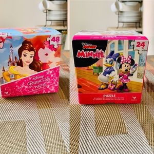 2 Sets Licensed Disney Character Puzzle For Kids